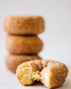 doughnut on white surface